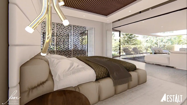 Hyde Park Luxury residence:  Bedroom by FRANCOIS MARAIS ARCHITECTS,