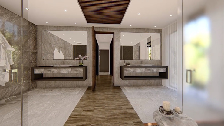 Hyde Park Luxury residence:  Bathroom by FRANCOIS MARAIS ARCHITECTS,