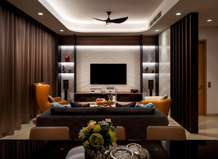 Bishopgate Residences Modern living room by Summerhaus D'zign Modern