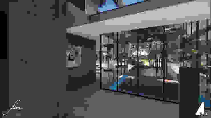 Zambian Luxury residence Minimalist corridor, hallway & stairs by FRANCOIS MARAIS ARCHITECTS Minimalist
