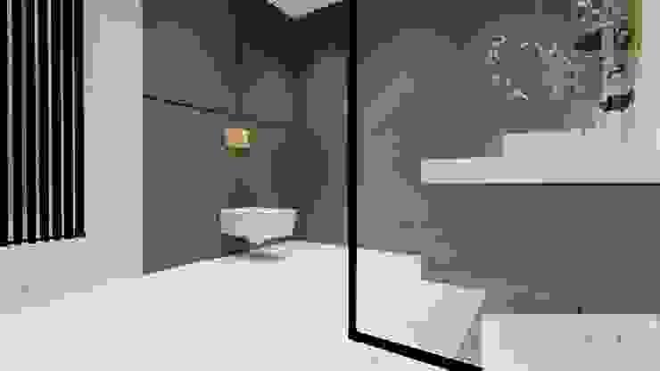 Machowska Studio Projektowe 모던스타일 욕실 대리석 화이트