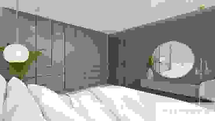 Machowska Studio Projektowe Murs & Sols modernes Argent/Or Beige