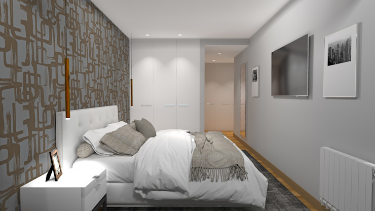 Chambre moderne par PLAN B INTERIORISMO Moderne