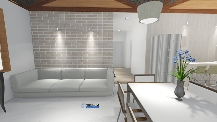 Sala de Estar Integrada Padilha Arquitetura e Urbanismo Salas de jantar modernas