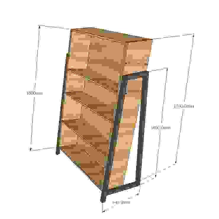 Kệ sách gỗ Laderto <q>thay đổi cục diện</q> trong phong cách nội thất: tối giản  by Home Office, Tối giản