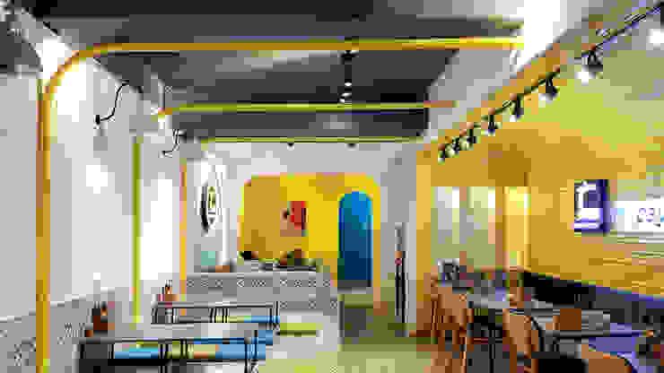June Noodles House Phòng ăn phong cách công nghiệp bởi Bdoup Architects Công nghiệp