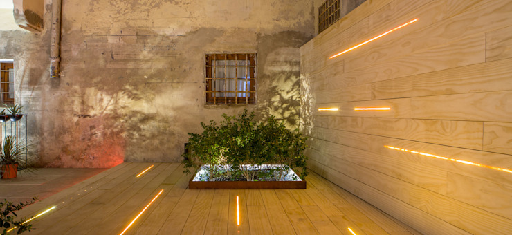 Integrated Led Decking Led Lighting SD Giardino moderno Legno