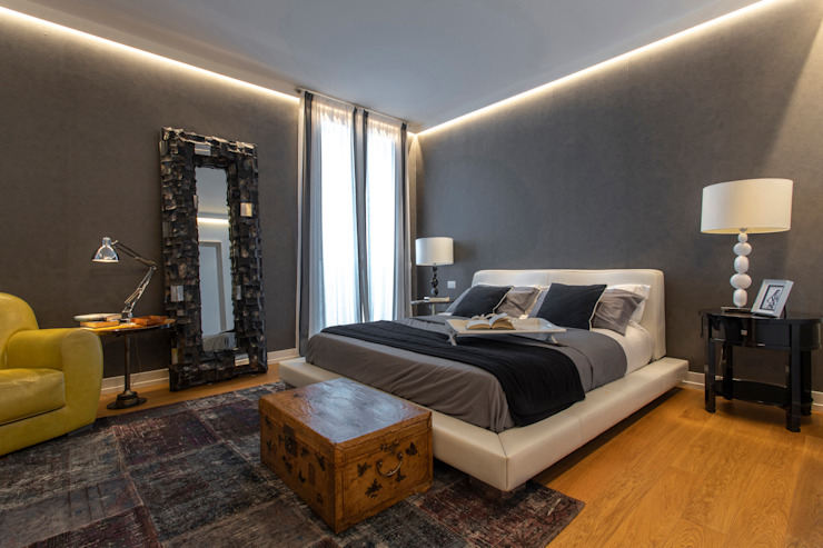 Arredamento per appartamento a Milano, zona Corso Como Stopino srl Camera da letto moderna