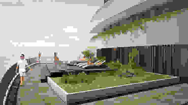 Terrazas de estilo  por CAMPUZANO ARQUITECTOS, Moderno