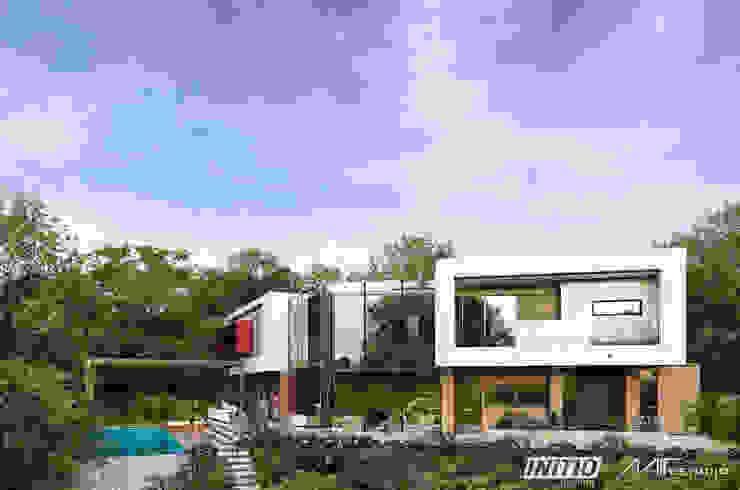 Vista Exterior Posterior de Mir Estudio - Arquitectura y Visualización 3D