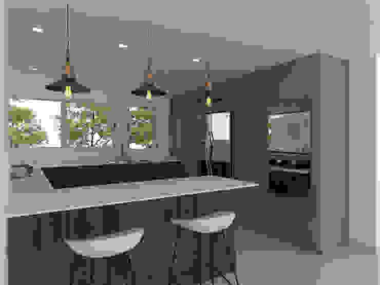 cocina pequeña de Naromi Design Moderno Madera Acabado en madera