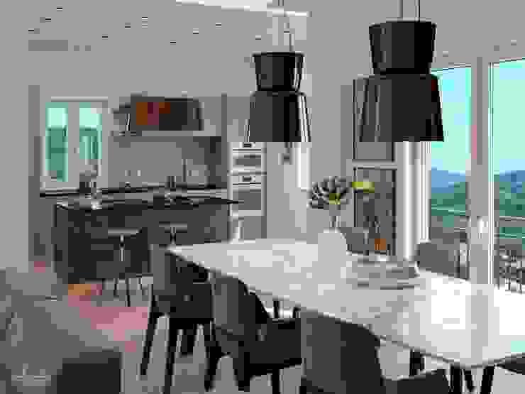 Cucina e zona living a Sant\'Agata di Militello by Santoro ...