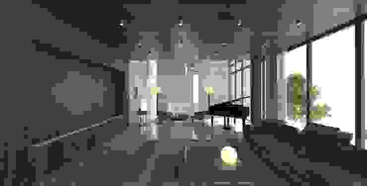 Yıldırım Villa Modern Oturma Odası Robus Mimarlık Mühendislik Modern Ahşap Ahşap rengi