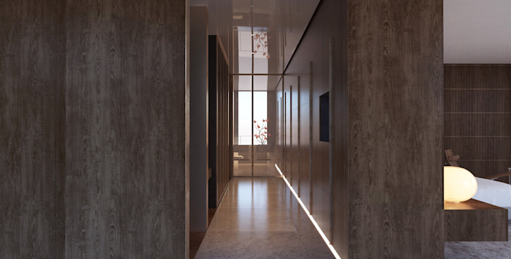 Yıldırım Villa Minimalist Giyinme Odası Robus Mimarlık Mühendislik Minimalist