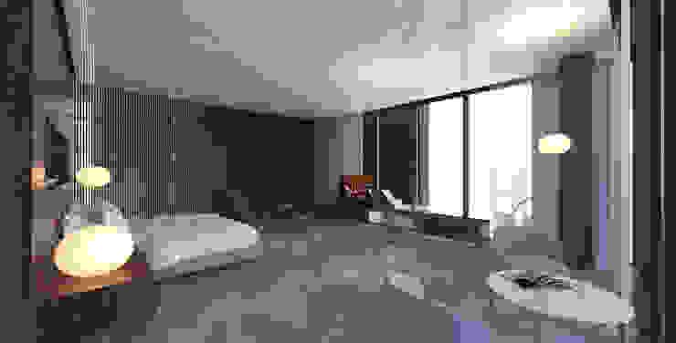 Yıldırım Villa Minimalist Yatak Odası Robus Mimarlık Mühendislik Minimalist