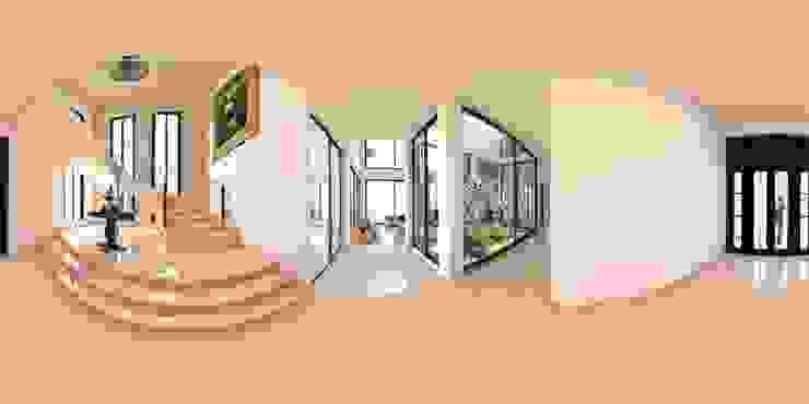 casa jalostoritlan acadia arquitectos Escaleras Cerámico Beige