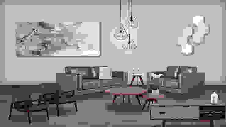 Sala : Salas de estilo  por moblum, Moderno