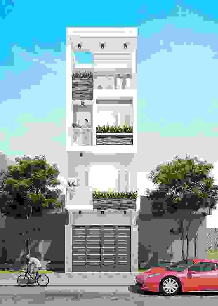 Tư vấn thiết kế mẫu nhà phố hiện đại ấn tượng trong năm 2019 bởi Công ty xây dựng nhà đẹp mới