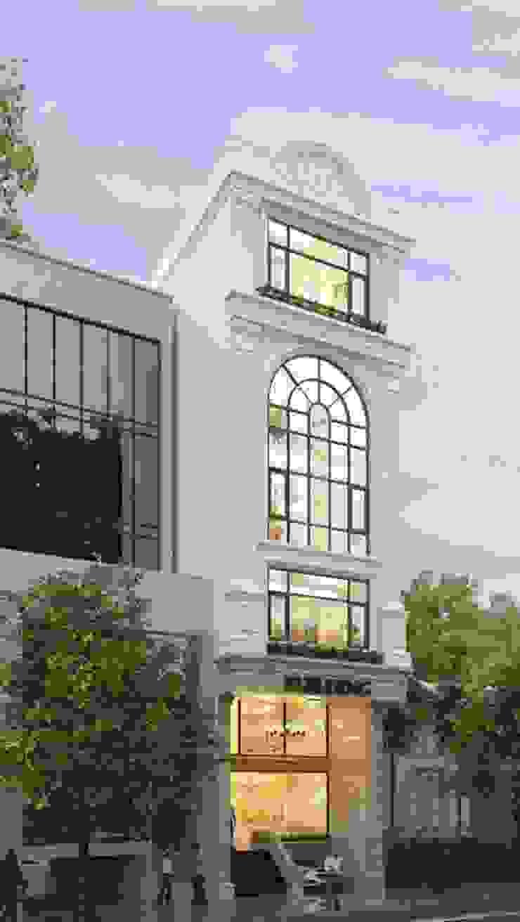 Chia sẽ 22 mẫu thiết kế mặt tiền nhà phố tân cổ điển đẹp bởi Thiết kế nhà đẹp ở Hồ Chí Minh