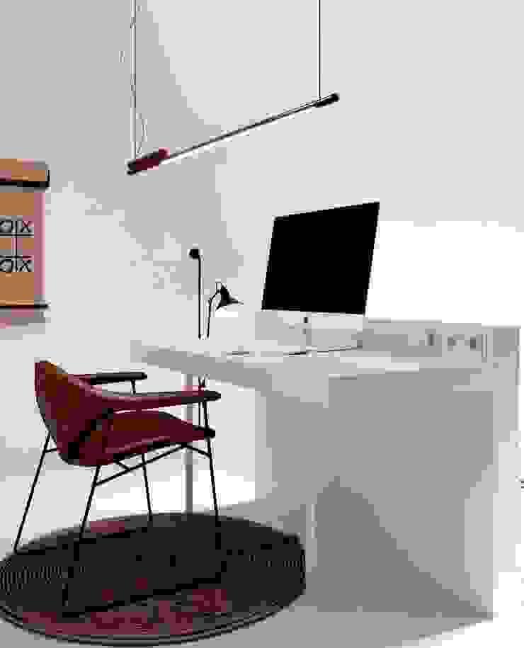 La casa de Lucho en Yerbabuena Estudios y despachos de estilo escandinavo de Smart Investment Group Escandinavo Derivados de madera Transparente