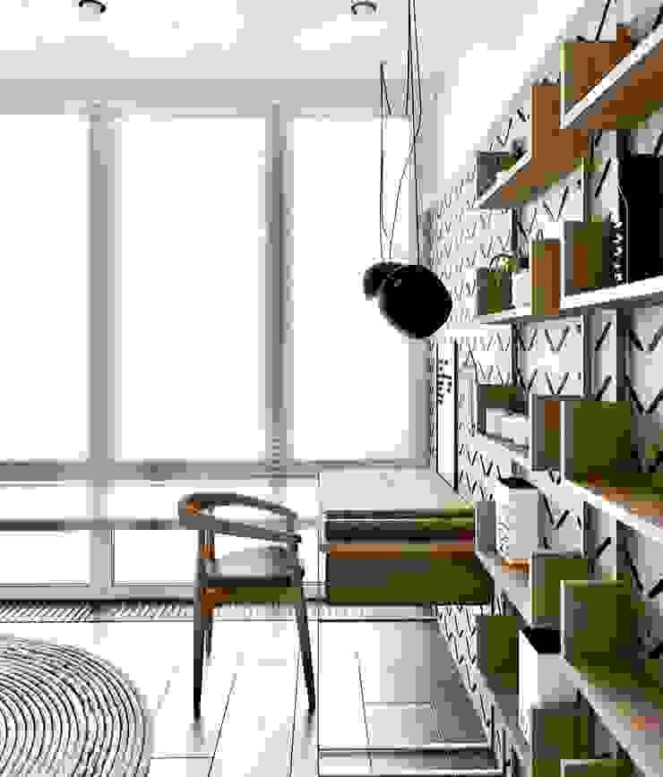 La casa de Lucho en Yerbabuena Estudios y despachos de estilo moderno de Smart Investment Group Moderno Madera Acabado en madera