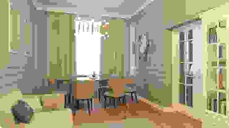 Дизайн-проект загородного дома Гостиная в классическом стиле от DESIGN GRUA Классический МДФ