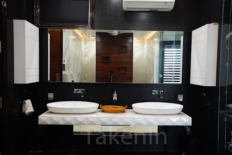 From Modern Interiors To Contemporary Decor: This Design Studio Will Bring Your Dream Home To Life! 7WD Design Studio Modern bathroom Marble Black