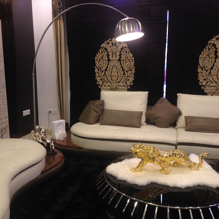INTERIOR DESIGNERS & TURNKEY SERVICE 7WD Design Studio Modern living room Wood Brown