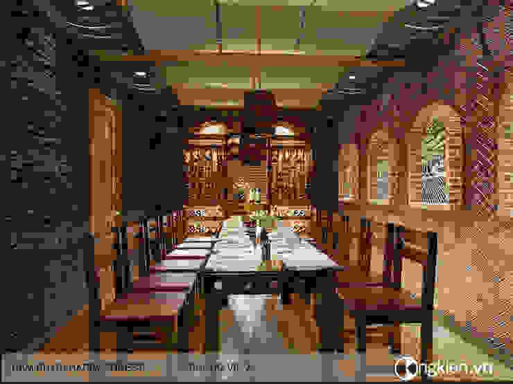 Thiết kế phòng VIP nhà hàng phong cách hầm rượu bởi Công ty TNHH Ông Kien