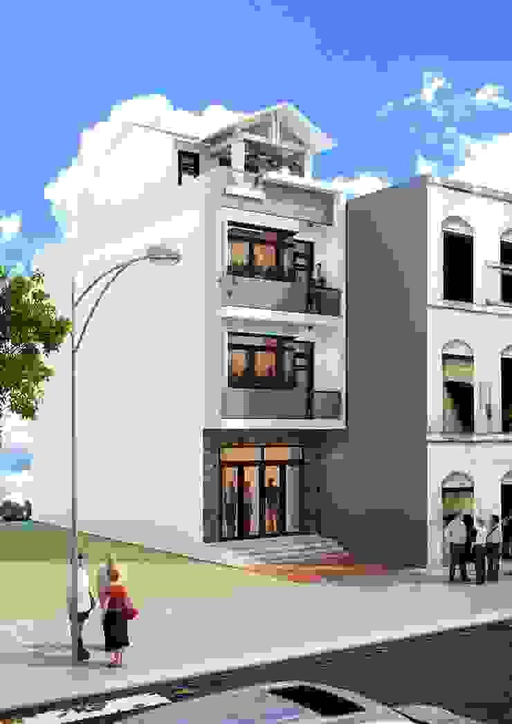 Xây dựng nhà trọn gói tại Bình Dương Nhà phong cách châu Á bởi Công ty TNHH sửa chữa nhà phố trọn gói An Phú 0911.120.739 Châu Á
