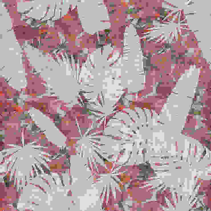 Tecnografica Paredes y suelos de estilo tropical Rojo