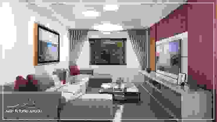 Sala de TV Salas de estar modernas por Juan Jurado Arquitetura & Engenharia Moderno