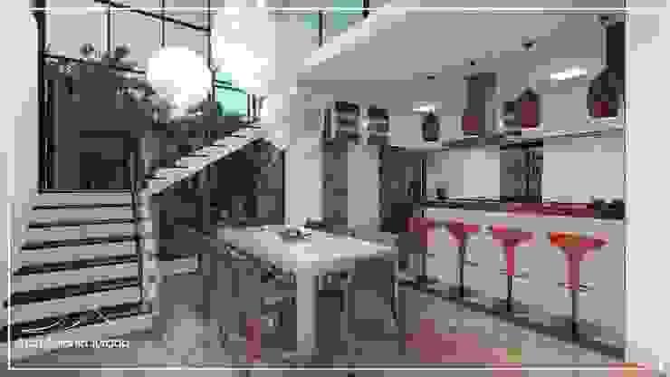 Sala de jantar e cozinha Salas de jantar modernas por Juan Jurado Arquitetura & Engenharia Moderno