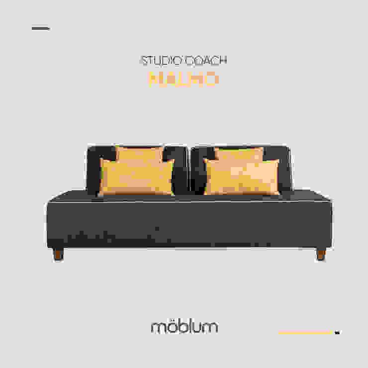 Studio coach Malmo mercurio amarillo de moblum Minimalista