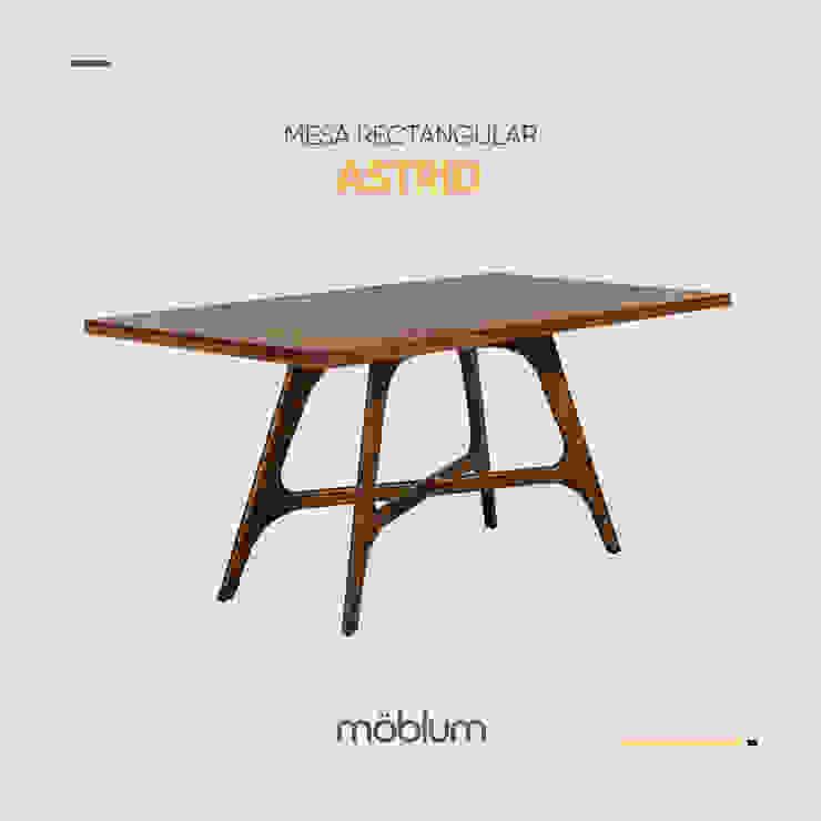 Mesa rectangular Astrid de moblum Minimalista