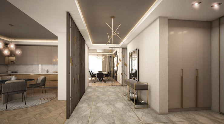 Modern Corridor, Hallway and Staircase by Lego İç Mimarlık & İnşaat Dekorasyon Modern Wood Wood effect