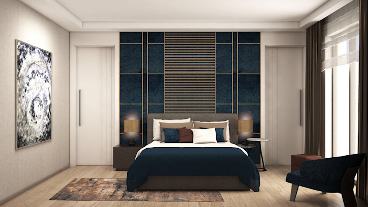 Dormitorios pequeños de estilo  por Lego İç Mimarlık & İnşaat Dekorasyon ,