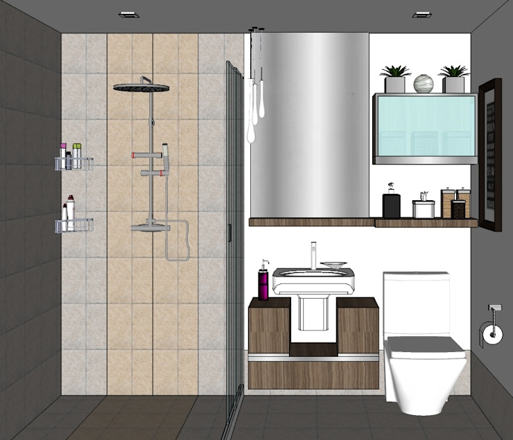 2 Bedroom Condominium Project Modern bathroom by MKC DESIGN Modern