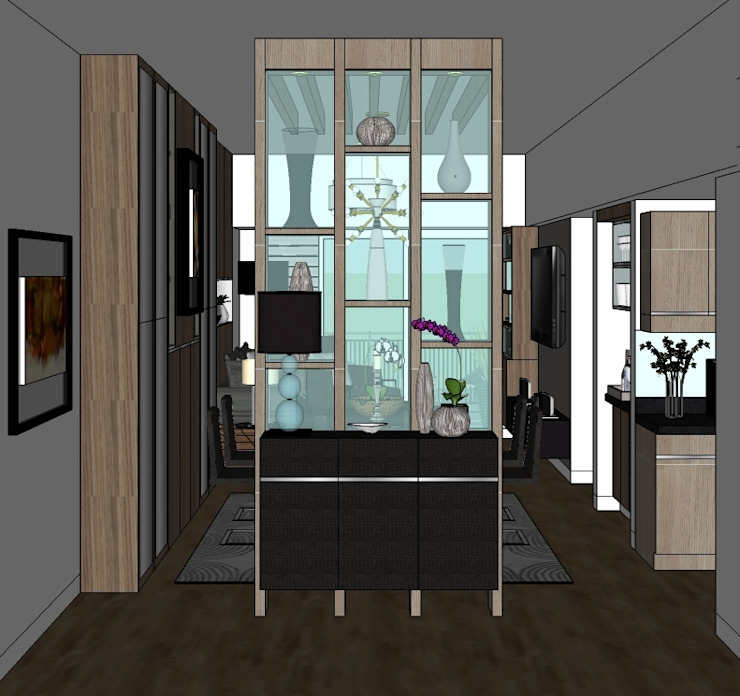 2 Bedroom Condominium Project Modern Corridor, Hallway and Staircase by MKC DESIGN Modern