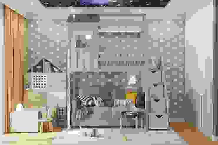 ЖК level Кутузовский: Детские комнаты в . Автор – Зоя Ахманаева, Модерн Дерево Эффект древесины