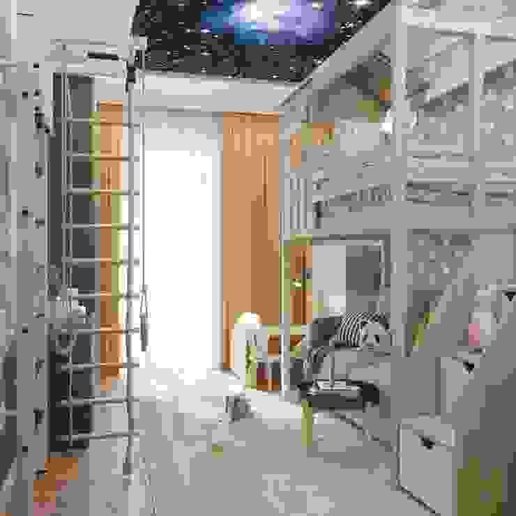 ЖК level Кутузовский: Спальни для мальчиков в . Автор – Зоя Ахманаева, Модерн