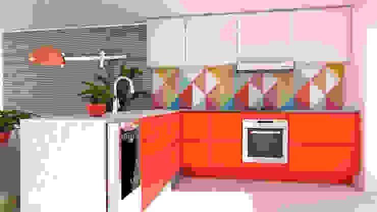 Cozinha por Juliana Costa Designer de Interiores Minimalista Madeira Efeito de madeira