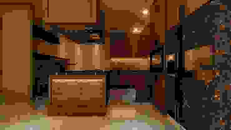 Kitchen Design Manglam Decor Amber/Gold