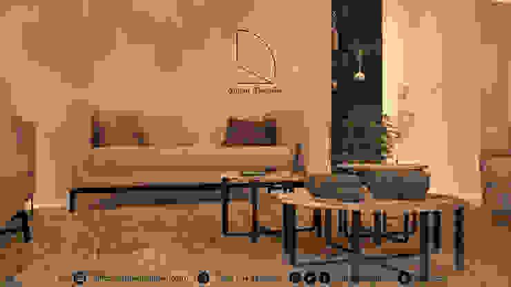 صالة معيشة من Amjad Alseaidan حداثي