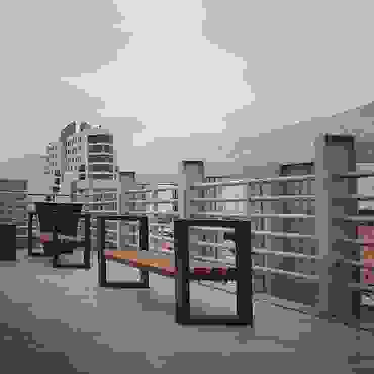 Mirador azotea Balcones y terrazas clásicos de Yañez y Muñoz Arquitectos Clásico Aluminio/Cinc