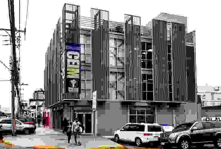 Fachada de Yañez y Muñoz Arquitectos Industrial Aluminio/Cinc