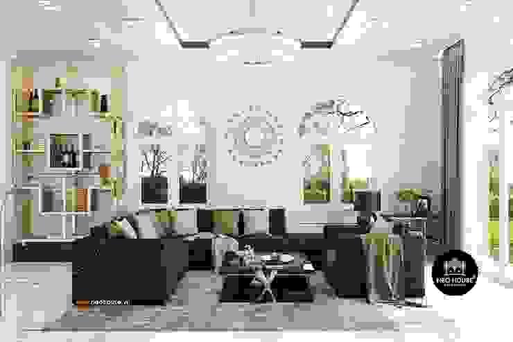 Mẫu biệt thự vườn 1 tầng mái thái đẹp   Hiện đại nhất 2019: hiện đại  by NEOHouse, Hiện đại