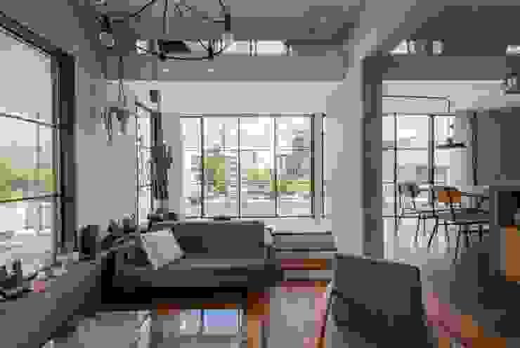 CO2WORKS Moderne Wohnzimmer Holz Weiß