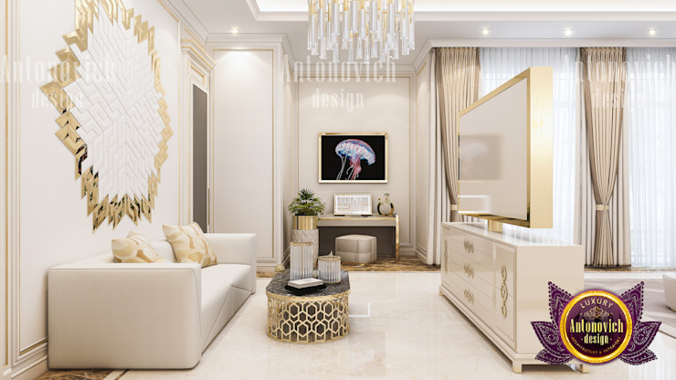 Bedroom Luxe Design by Luxury Antonovich Design