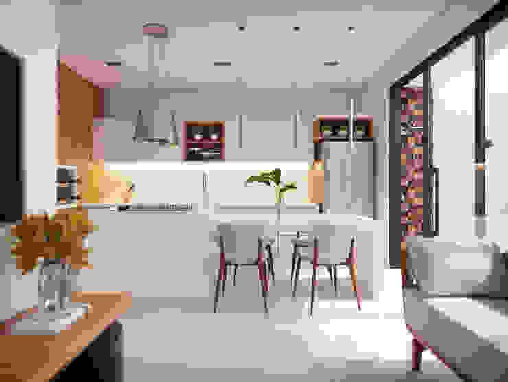 Кухня by Estúdio Yotta, Мінімалістичний